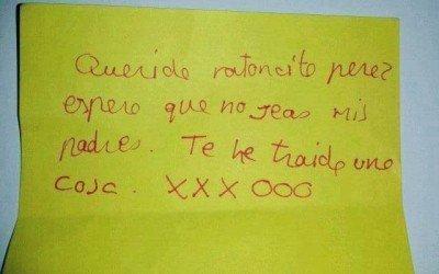 Querido Ratoncito Pérez…. Espero que no seas mis padres