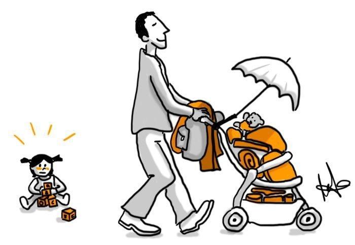Los padres primerizos y el síndrome del utillero