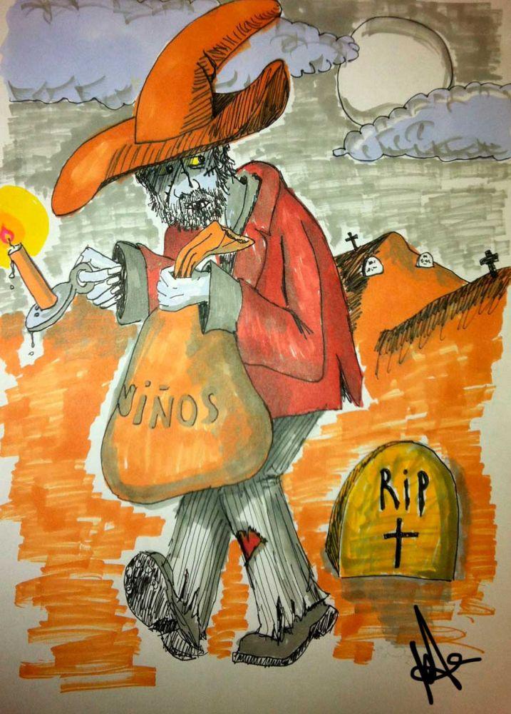 El hombre del saco (Dibujo)