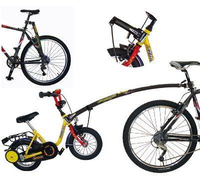Trailgator-Barra-de-remolque-para-bicicleta-de-nio-40-50-cm-rosa-rosa-0-2