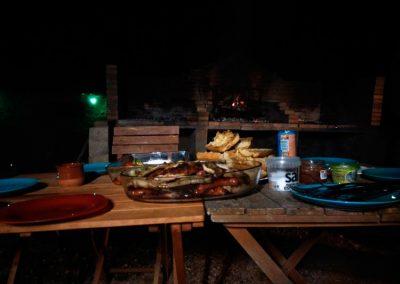 Cena bajo las estrellas