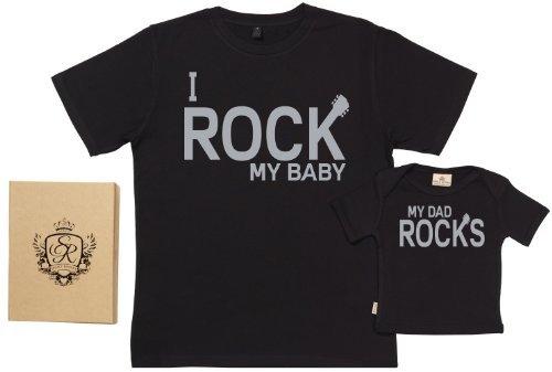 Kit de camisetas para padres y bebés rokeros