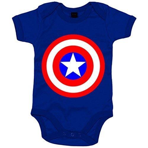 "Body para bebés super-héroes ""CAPITÁN AMÉRICA"""