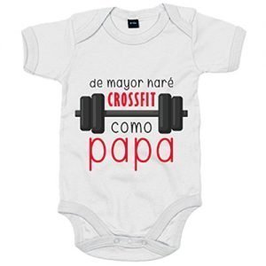 Body bebé HARÉ CROSSFIT COMO PAPÁ