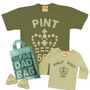 "Camiseta padre e hijo ""Pint & Half Pint"""